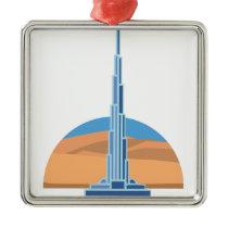 Burj Khalifa Dubai Metal Ornament