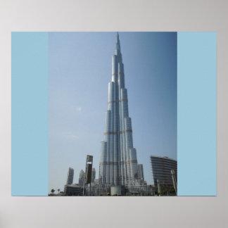Burj Khalifa Dubai Póster