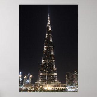 Burj Khalifa, Dubai - poster Póster