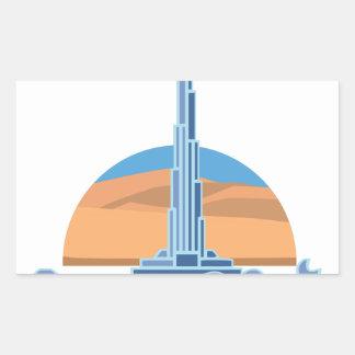 Burj Khalifa Dubai Rectangular Sticker