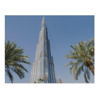 Burj Khalifa, Dubai y palmeras Postal