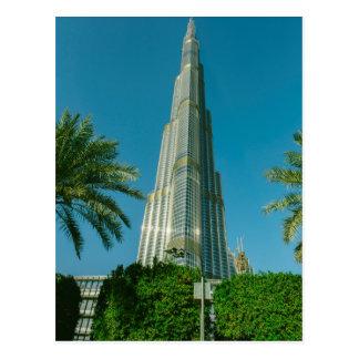 Burj Khalifa, Dubai y palmeras Tarjetas Postales