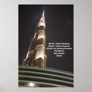 Burj Khalifa, el edificio más alto del mundo, Póster