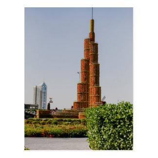 Burj Khalifa, jardín del milagro de Dubai Postales