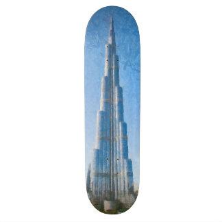 """Burj Khalifa, pintura de Dubai Patineta 7 3/4"""""""