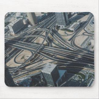 Burj Khalifa road view,Dubai Mouse Pad