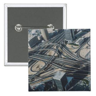 Burj Khalifa road view, Dubai Pinback Button