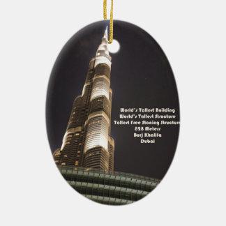 Burj Khalifa, The World's Tallest Building, Dubai Ceramic Ornament