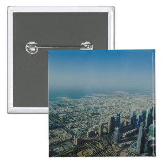 Burj Khalifa view, Dubai Pinback Button