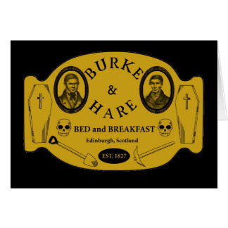 Burke and Hare bed and breakfast Card