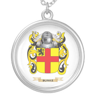 Burke Coat of Arms (Family Crest) Silver Plated Necklace