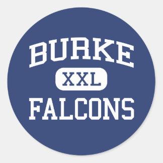 Burke Falcons Middle Pico Rivera California Round Sticker