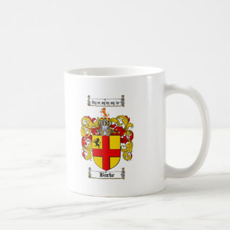 BURKE FAMILY CREST -  BURKE COAT OF ARMS COFFEE MUG