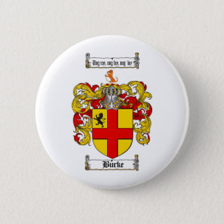 BURKE FAMILY CREST -  BURKE COAT OF ARMS PINBACK BUTTON