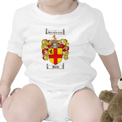 BURKE FAMILY CREST -  BURKE COAT OF ARMS TSHIRTS