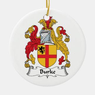 Burke Family Crest Ceramic Ornament