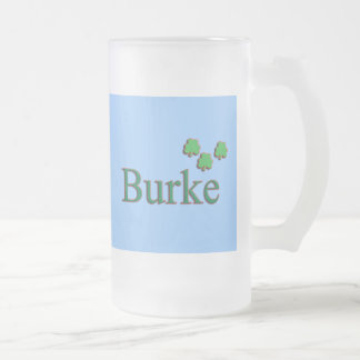 Burke Family Frosted Glass Beer Mug