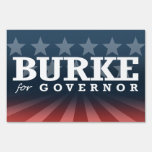 BURKE FOR GOVERNOR 2014 LAWN SIGN