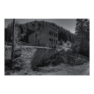 BURKE IDAHO - MINING GHOST TOWN POSTER
