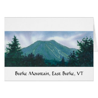 Burke Mountain East Burke Vermont Card