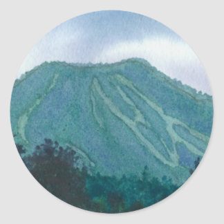 Burke Mountain East Burke Vermont Classic Round Sticker