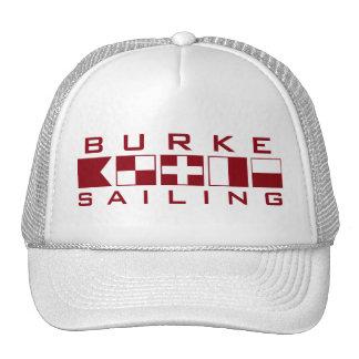 Burke que navega el gorra náutico del camionero de