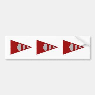 Burke Sailing Burgee Bumper Stickers (Version 2)