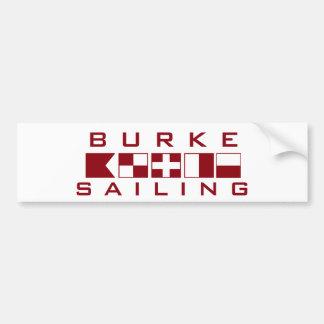 Burke Sailing Nautical Flags Bumper Sticker Car Bumper Sticker