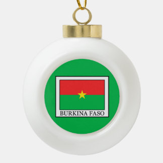 Burkina Faso Ceramic Ball Christmas Ornament