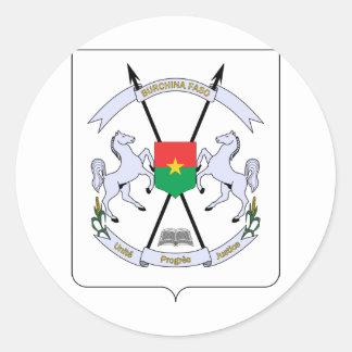 Burkina Faso Coat of arms BF Classic Round Sticker