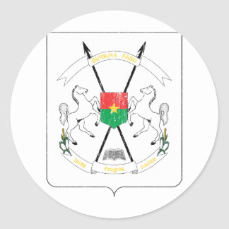 Burkina Faso Coat Of Arms Classic Round Sticker