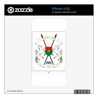 Burkina Faso Coat of Arms Decals For iPhone 4S