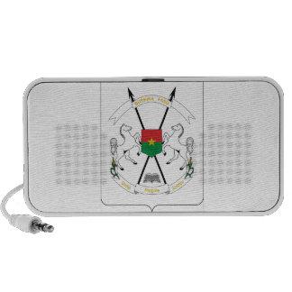 Burkina Faso Coat of Arms Travelling Speakers