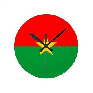 burkina faso country flag clock