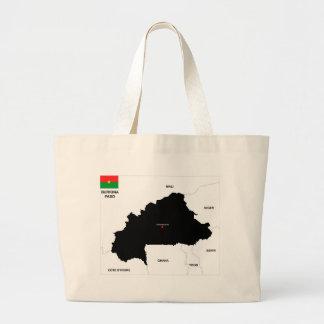 burkina faso country political map flag bags