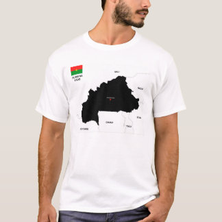burkina faso country political map flag T-Shirt