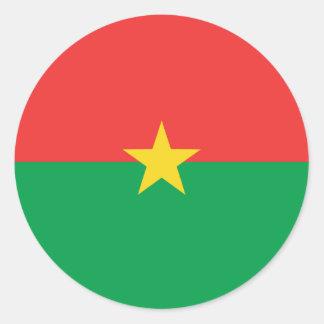 Burkina Faso Fisheye Flag Sticker
