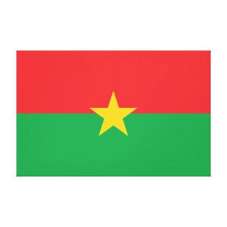 Burkina Faso Flag Canvas Print