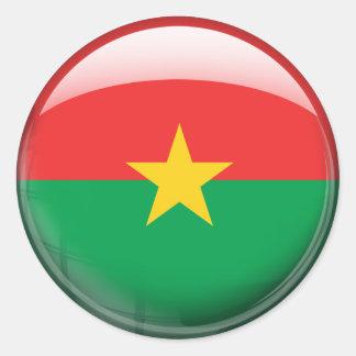 Burkina Faso Flag Classic Round Sticker
