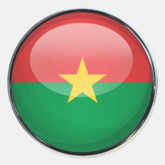 Burkina Faso Flag Glass Ball Classic Round Sticker
