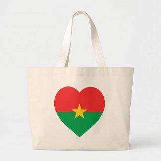 Burkina Faso Flag Heart Bag