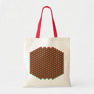Burkina Faso Flag Hearts Bag