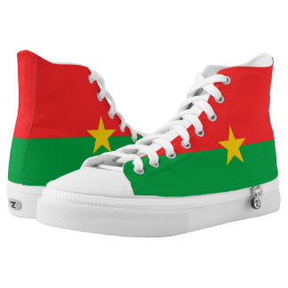 Burkina Faso Flag High-Top Sneakers