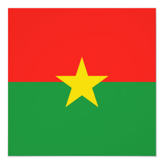 Burkina Faso Flag Invitation
