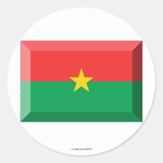 Burkina Faso Flag Jewel Classic Round Sticker