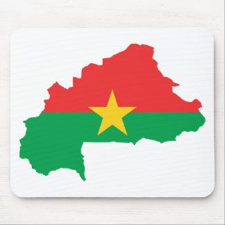 Burkina Faso Flag map BF Mouse Pad