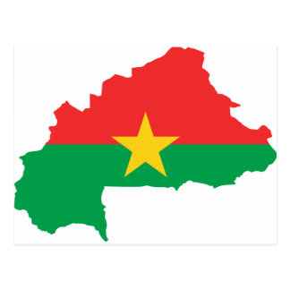 Burkina Faso Flag map BF Postcard