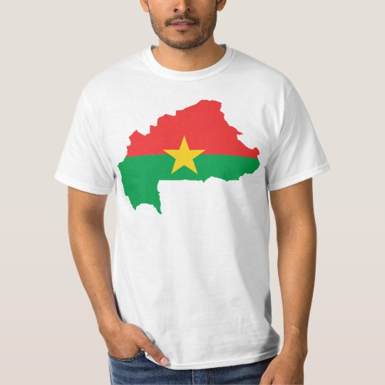 Burkina Faso Flag map BF T-Shirt
