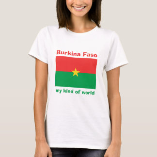 Burkina Faso Flag + Map + Text T-Shirt