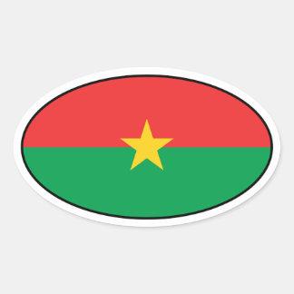 Burkina Faso Flag Oval Sticker